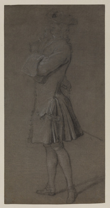 Standing figure of a man (recto)