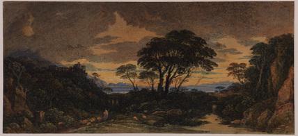 Landscape idyll - sunset