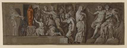 Copy after Polidoro da Caravaggio's frieze on the facade of Palazzo Melisi, Rome