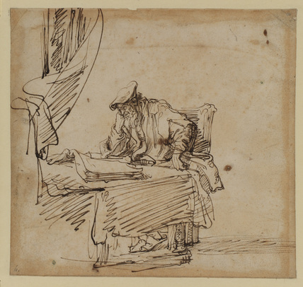 Scholar seated at a table