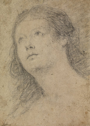 Head of a woman gazing up (recto)