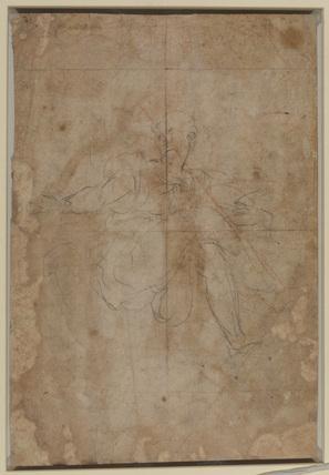 Studies of female figure with legs crossed (verso)
