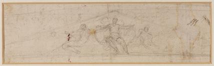 Design for a pediment - allegory