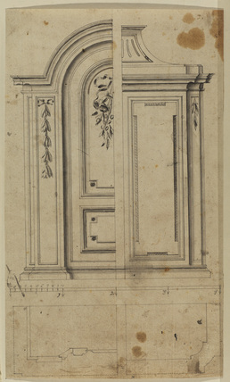 Two designs for an architectural panel