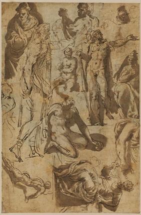 Sheet of figure studies