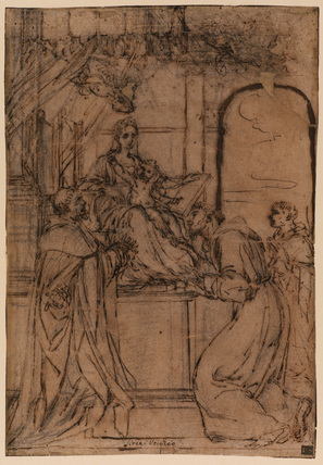 Virgin and Child enthroned with saints