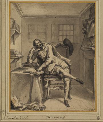 Don Quixote in his study