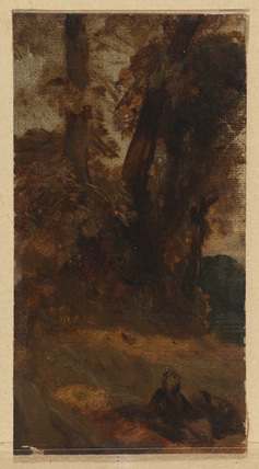 Landscape with seated figure