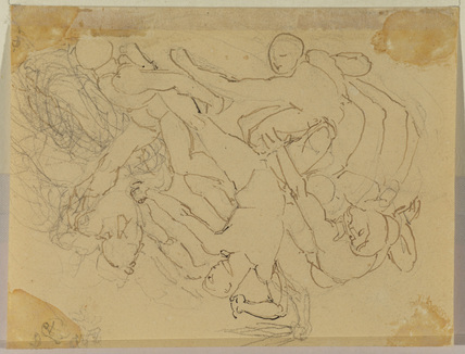 Battle of nude men (verso)