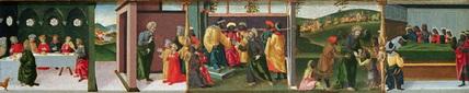 Legend of Saint Thomas the Apostle - Gundaphorus giving Saint Thomas money to build his palace and other episodes
