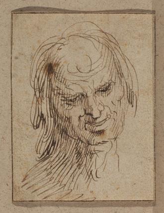 Head of a man (recto)