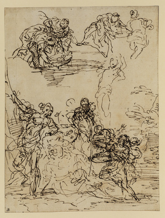 Studies for the 'Finding of Moses'
