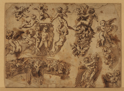 Sheet of studies of ornamental motifs
