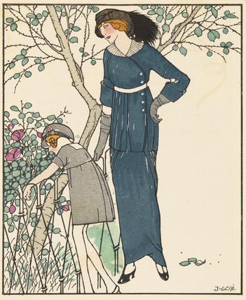 Gazette du Bon Ton, No.5, Plate II, 1913
