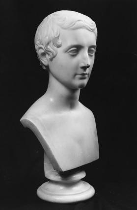 Portrait bust of a boy