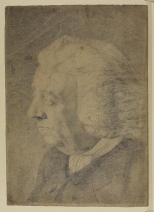 Portrait head of an elderly man