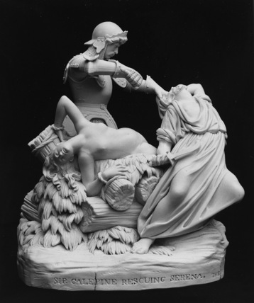 Sir Calepine Rescuing Serena, from Spenser's The Faerie Queene
