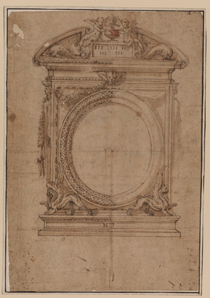Design for a looking-glass frame