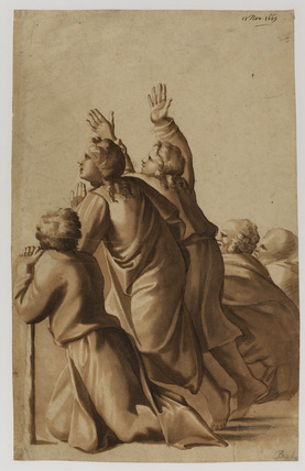 Group from Raphael's 'Moses showing the Laws to the People' (Loggie Vaticane, Rome)