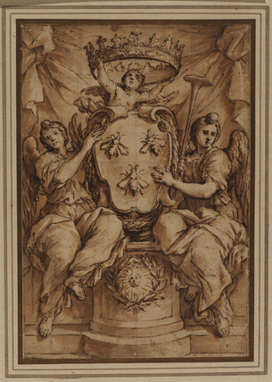 Barberini arms supported by two angels