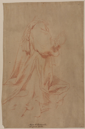 Study for a kneeling figure (recto)