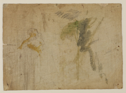 Figure studies and ornamental detail (verso)
