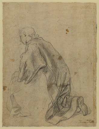 Study for the kneeling figure of Saint Procule (verso)