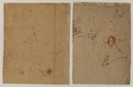 Head and arms of a man (verso)