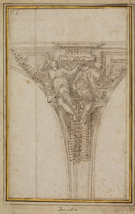 Design for the decoration of a spandrel (recto)