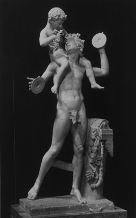 Faun with Dionysus, copy of group from Hellenistic period