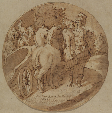 Roman soldiers and chariot