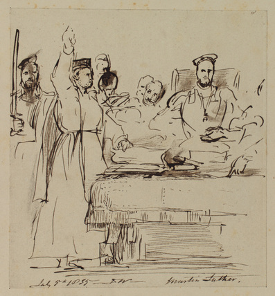 Study for 'Martin Luther at the Diet of Worms'