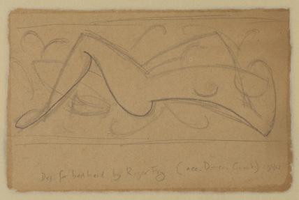 Design for bedhead (verso)