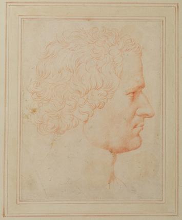 Head of a man, in right profile
