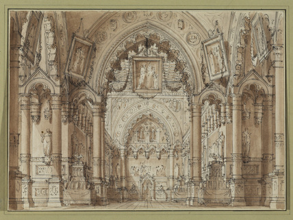 Interior of a church - architectural capriccio (?)