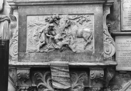 Bath Abbey;Monument to Jacob Bosanquet