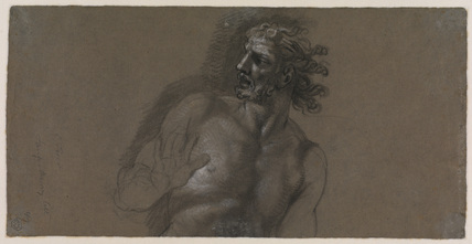 Fragment of a nude figure of a man (verso)