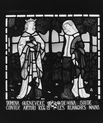 Stained glass window, Guinevere and Isolde