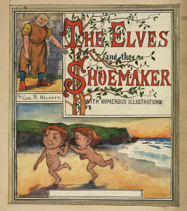 Title page for 'The Elves and the Shoemaker'