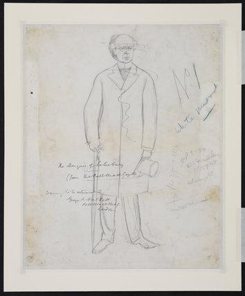 Full length standing male figure (verso)