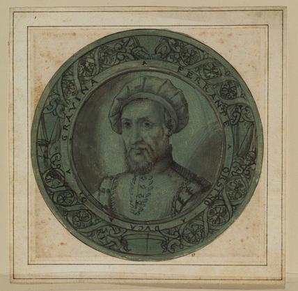 Roundel with a portrait of Ferrante Orsino, Duke of Gravina