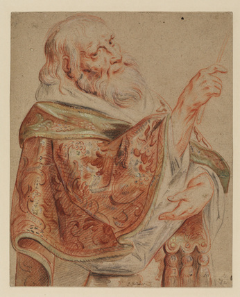 Study of a priest, half-length, turned to the right
