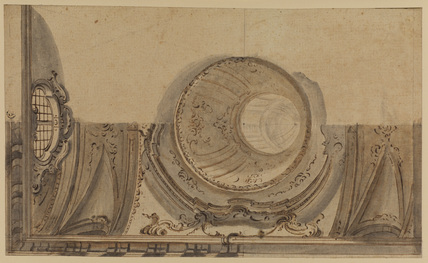 Design for an illusionistic ceiling (recto)