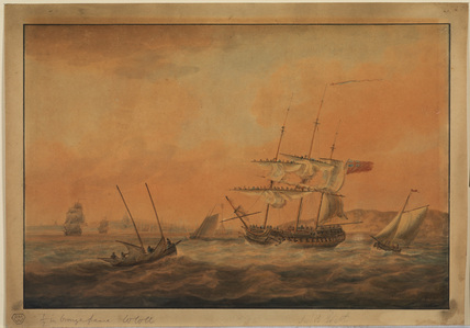 Sailing ship and other boats in Thames estuary