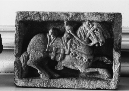 Fragment from the Abbey, relief, horse