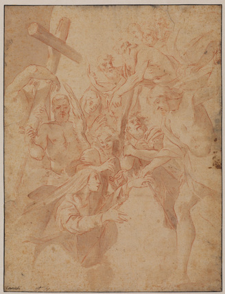Christ descending into Limbo (recto)