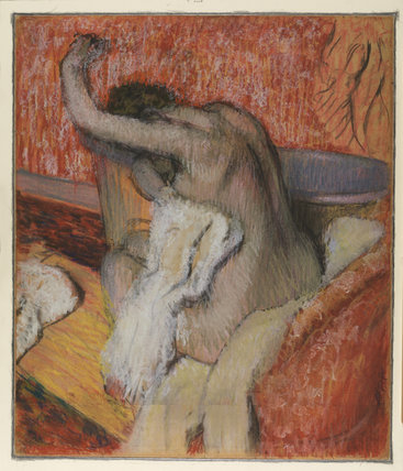 After the bath - woman drying herself