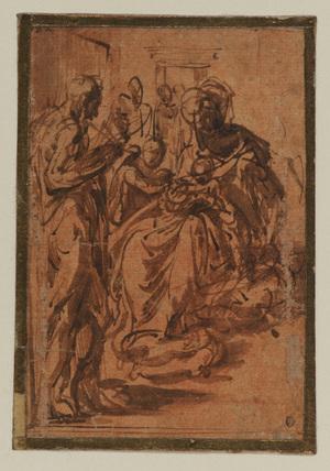 Study for the 'Madonna dal Collo Lungo'