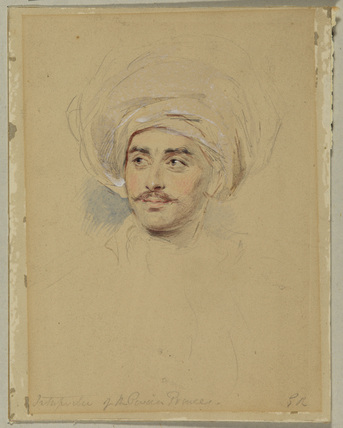 Head of a man in a turban