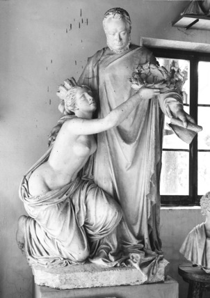 Plaster model for the monument to Camillio Cavour, Turin